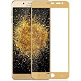 Samsung Galaxy C9 Pro Tempered Glass Screen Protector, 9H Hardness And 2.5 D Curved Edge Tough Glass Full Coverage Tempered Glass, [GOLD] [Edge To Edge Crash Protection] Curved [Scratch Proof] [Bubble Free] Tempered Glass Screen Protector