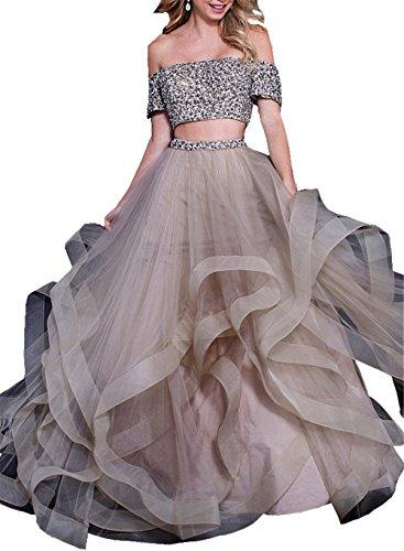 Changjie Damen Zweiteiler Brautkleider Hochzeitskleider Prinzessin Elegant Lang Abendkleider...