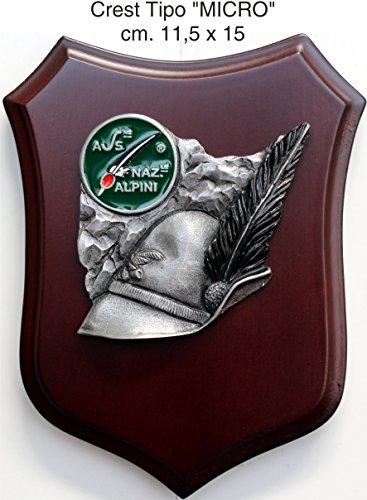 Crest Brigade alcrest alpinen 3d a meißelförmig Logo Ana Skulptur Handgefertigt Hut alpinopina TAURINENSE 11x 15cm Pokal alpinen Brigaden Rahmen