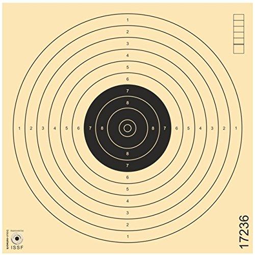 Zielscheiben Schießscheiben ISSF Softair Luftpistole Luftgewehr Kleinkaliber Spezialkarton 17x17cm - 100er Pack