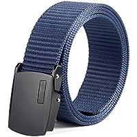 XIANGYINGZHIJIA Cinturón Cinturón Cinturón Cinturón Cinturón Deportivo Cinturón de Moda, 130cm, Hebilla Negra Azul