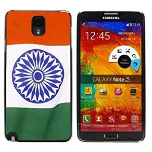 Colorful Printing (Happy Republic Day) Aluminum Metal and Hard Plastic Back Case for Samsung Galaxy Note 3 / N9000 / N9002 / N9005 , With 3 Pieces Screen Protector and 1 Stylus Pen