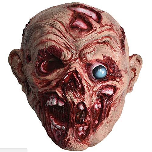 Up Schwangere Kostüm Dress - CGBF-Halloween Maske Latex Cosplay Maske Rotten Mouth Augapfel Kopfbedeckung Prom Dress Up Requisiten Spukhaus Bar Scary Head Karneval Maskerade