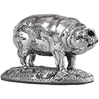 Pig. in argento sterling in miniatura ornament.Hallmarked.Made in Inghilterra.