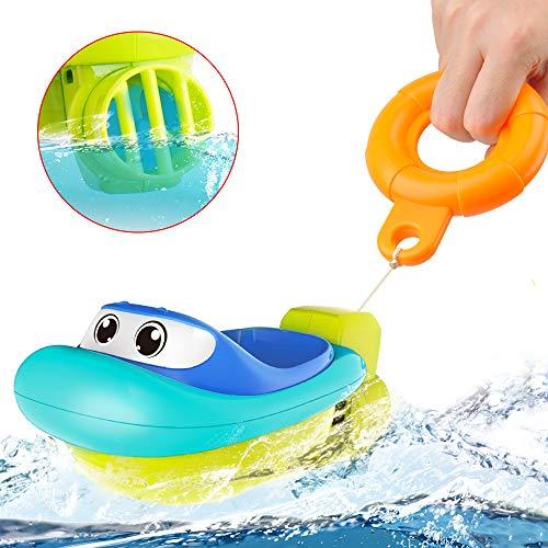GizmoVine Badespielzeug Boote Badewannenspielzeug Set Schwimmendes Poolspielzeug Wasserspielzeug Babyspielzeug für Jungen und Mädchen (Boot1)