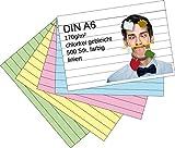Die besten Karteikarten - Karteikarten 500 Stück A6 farbig liniert Bewertungen