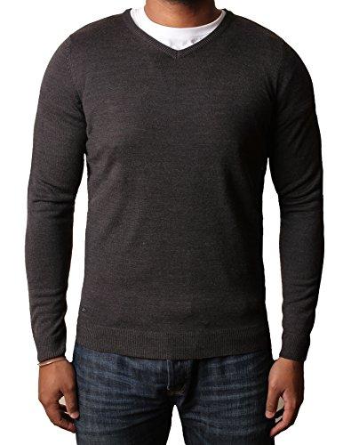 kensington-mens-soft-cashmillon-fashion-v-neck-jumper-sweater-knitwear-pullover-hamar-charcoal-marl-