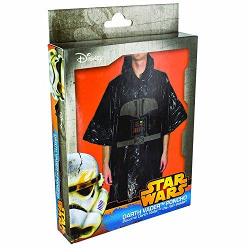 Imagen de star wars  disfraz poncho darth vader, color negro paladone pp2825sw