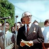 Poster 50 x 50 cm: Staatsbesuch Erich Honecker 1974 in Kuba/Cuba - Rede von Klaus Morgenstern/ddrbildarchiv.de - Hochwertiger Kunstdruck, Neues Kunstposter