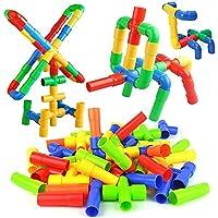 GGG Colorful Plastic Enlighten Educational Stacking Toys Building Block Bricks Construction Sets for Kids Children Boys and Girls