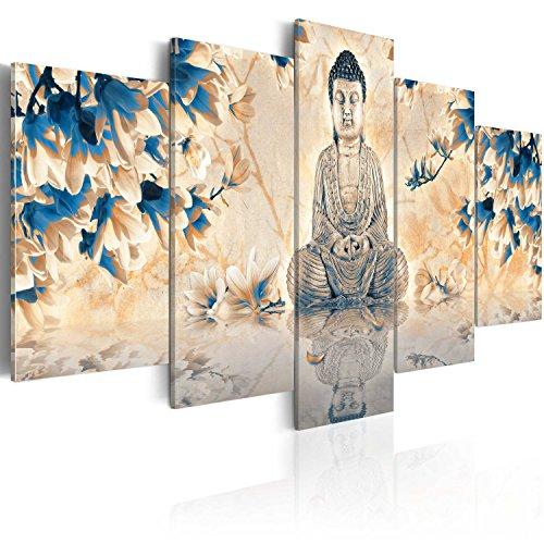 BD XXL murando Impression sur toile intissee 200x100 cm 5 parties tableau tableaux decoration murale photo image artistique photographie graphique Bouddha Zen 020113-243
