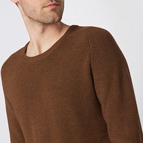 R Edition Mann Pullover Aus Moulinegarn Camel Meliert