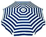 Schneider Sonnenschirm Capri, blau/weiß, ca. 200 cm Ø, 8-teilig, rund