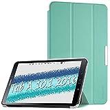 EasyAcc Funda Compatible para Samsung Galaxy Tab A 10.1' T580N / T585N Case Ultra Slim Carcasa Smart Cover PU Protector Soporte Función Auto-Sueño/Estela Mente Verde