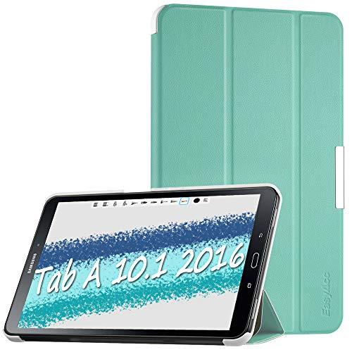 """EasyAcc Funda Compatible para Samsung Galaxy Tab A 10.1"""" T580N / T585N Case Ultra Slim Carcasa Smart Cover PU Protector Soporte Función Auto-Sueño/Estela Mente Verde"""