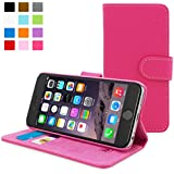 Snugg® iPhone 6 Flip Case - Leather Wallet Case with Lifetime Guarantee (Hot Pink) for Apple iPhone 6