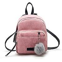 Schultaschen Damen Btruely Mädchen Leder Rucksäcke Reisen Schultertasche (Rosa)
