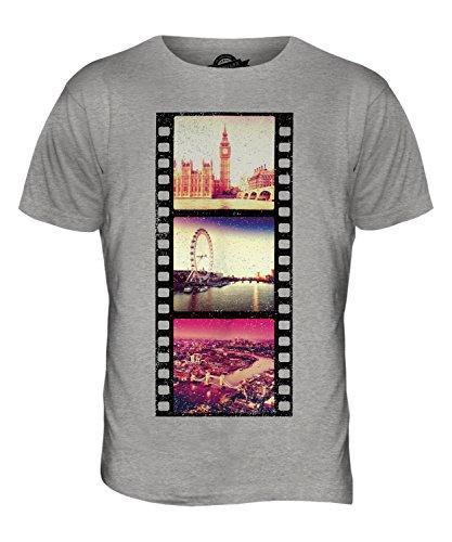 CandyMix London Fotografischer Film Herren T Shirt Grau Meliert