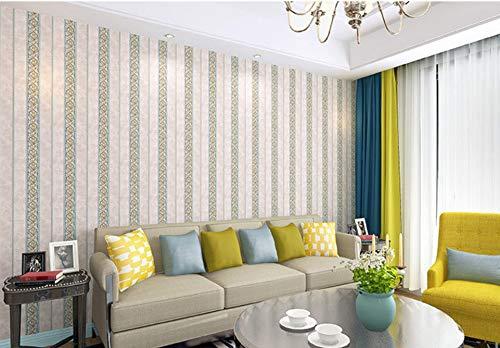 Retro Tapete Living Zimmer Tv Hintergrund Wand Nahtlose Wandtuch Garten Blumenschlafzimmer Nachttisch Wandtuch Stiftung Blue Stripes - Libby Stripe