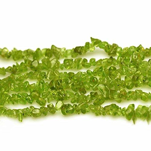Chips Peridot Jade 3-8mm Perlen zum Auffädeln Naturstein Chips Perlen Approx 80cm Stränge (Jade-chip-armband)