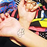 Amor infinito - Tatuaje temporal (conjunto de 2)
