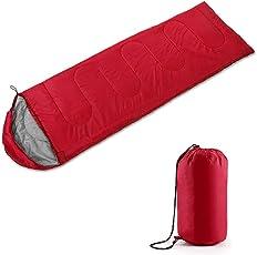 JUEYAN 3 Saison Hüllenform mit Kapuze deckenschlafsack ultraleicht Schlafsack für Camping Wandern Trekking 210*75cm
