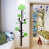 Kind Höhenmessung Lineal, Cartoon 3D Wandaufkleber, Cartoon Kindergarten Wanddekoration Tapete Zpzp