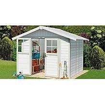 GROSFILLEX Kunststoffhaus Deco H 4,9, BxT: 242x202 cm weiß