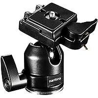 Mantona Rótula para trípode Scout (XL, carga máxima aprox. 6kg, adaptador de rosca 3/8a 1/4pulgadas y zapata rápida), color negro