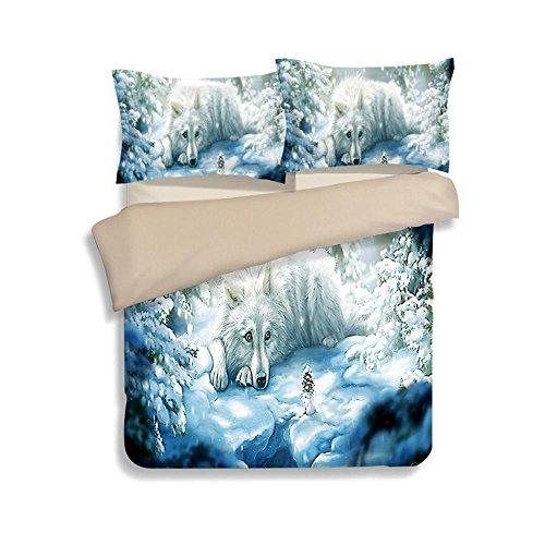 SHIQUNC 3D Bettbezug Set Tier Druckeffekt Quilt Bettwäsche Set Neue königin King Size 3 stücke 1 bettbezug 2 Kissenbezüge, 10, Königin (10 Stück Bettwäsche-sets Königin)