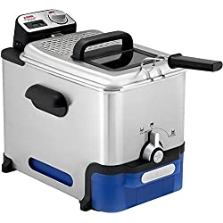 SEB FR804000 Oleoclean Pro Single Autonome Friteuse, 2300 W, 3.5 liters, Black, Blue, Stainless Steel