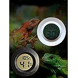 Gazechimp Rund Digital Hygrometer Temperatur Messgerät Für Reptilien Terrarien , Kunststoff , Weiß