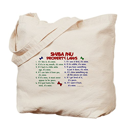 CafePress-Shiba Inu Property Laws 2-Leinwand Natur Tasche, Reinigungstuch Einkaufstasche, canvas, khaki, M