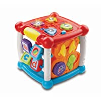VTech Baby Turn and Learn Baby Activity Cube | Interactive Educational Toy with Shape Sorter, Music & Sounds for Early Development | Suitable for Babies from 6 Months+