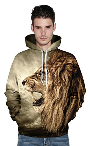 LifeWheel - Sweat à capuche - Femme Multicolore - Lion