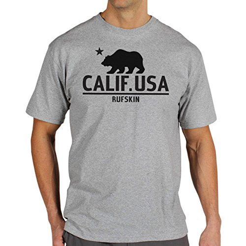 Calif.-Usa-Logo-Bull-Background.jpg Herren T-Shirt Grau