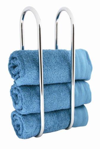 Sabichi Oceana - porta asciugamani da muro argento