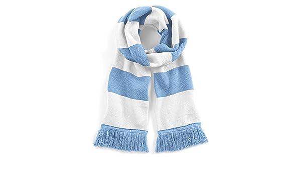 Echarpe rétro bleu ciel et blanc style université - Football   soccer    rugby  Amazon.fr  Vêtements et accessoires 00dff87fc71