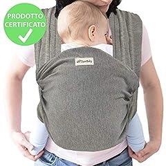 Idea Regalo - DearBaby | Fascia Porta Bambino - Bebè Marsupio Porta Bimbo fino a 15kg, Wrap Baby - Cotone Leggero e Traspirante di Alta Qualità - 0-36 mesi