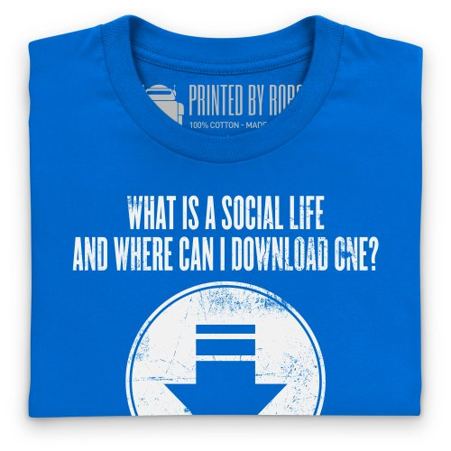 Social Life T-Shirt, Herren Royalblau