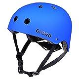Gioro Skate Casco Ajustable Bicicleta Casco Ciclo/Moto/Skating Casco Deportes Casco, Color Azul, tamaño Large