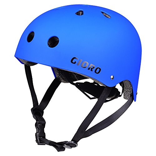 Gioro Skate Casco Ajustable Bicicleta Casco Ciclo/Moto/Skating Casco Deportes Casco, Color Azul, tamaño Medium