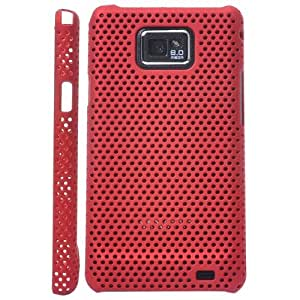 Iprotect ORIGINAL SAMSUNG GALAXY S2 I9100 NETZHARDCASE IN ROT / RED HÜLLE Galaxy S2 S 2 SII Schutzhülle
