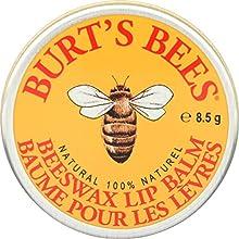Burt's Bees Baume à lèvres 100% naturel hydratant, cire d'abeille originale, avec vitamine E et huile de menthe poivrée, 1 boîte