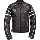 Spirit Motors Motorrad-Jacke Motorrad Schutz-Jacke Retro-Style Lederjacke 1.0