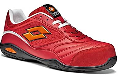 Scarpe antinfortunistiche Lotto Works ENERGY 500 S1P Nera (42, Rossa)