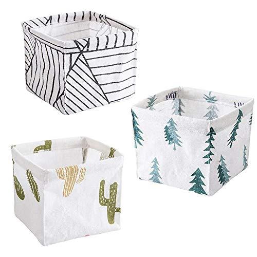 DYTJ-Lunchbox Bento Box Brotdose 3 Zusammenklappbare Große Würfel Stoff Leinen Lagerplätze Körbe Für Regale Cubby Wäscheservice Spielzimmer Schrank Kleidung Schuh Baby -