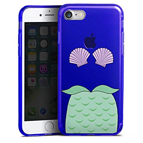 Apple iPhone 8 Silikon Hülle Case Schutzhülle Meerjungfrau Mermaid ohne Hintergrund Silikon Colour Case blau