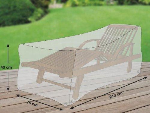 Schutzhuellenprofi Bâche de protection en polyester Oxford 600D pour chaise longue Gris clair