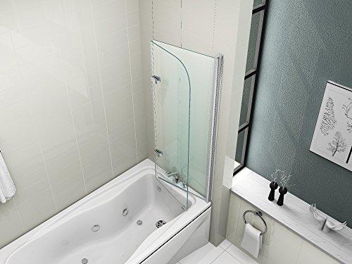 Vasca Da Bagno Con Pannelli Prezzi : Hnnhome pannello vasca da bagno doccia singolo in vetro 6mm girevole